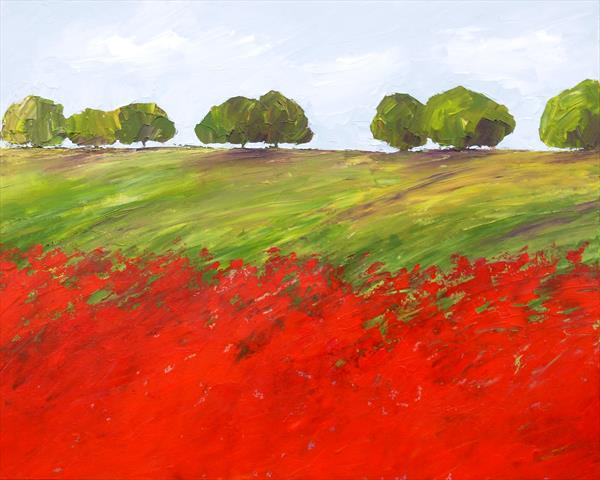 Field of Poppies 2 by Jan Rippingham