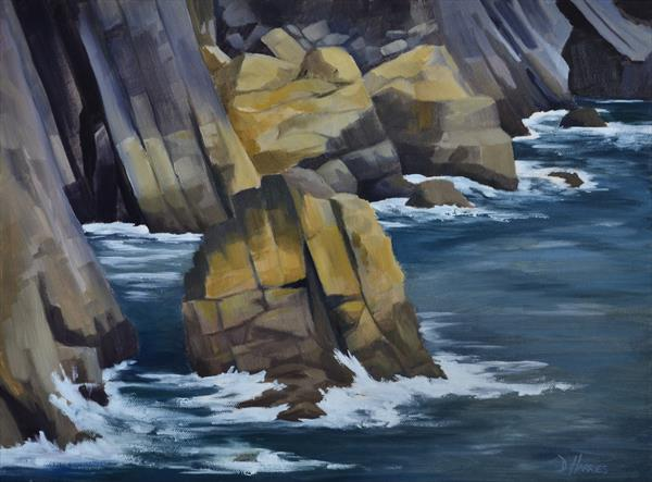 Rock Study - Flimston Bay by Dawn Harries
