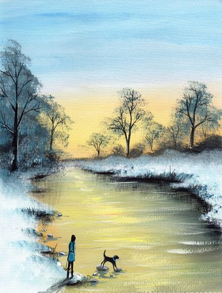 Sunset River by Sarah Featherstone