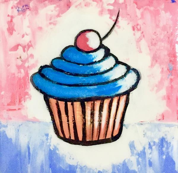 Cupcake Diptych by Dean Smith