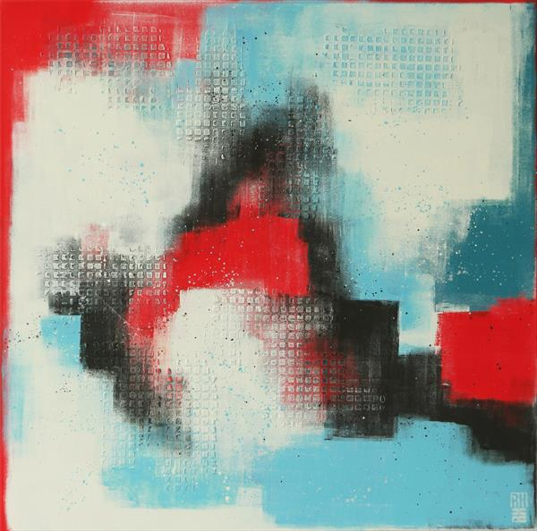 Structured in Red & Blue by Ronald Hunter