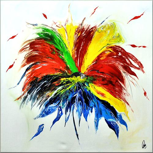 Sommerblüte - Abstract - Acrylic Painting - Canvas Art - Flower painting