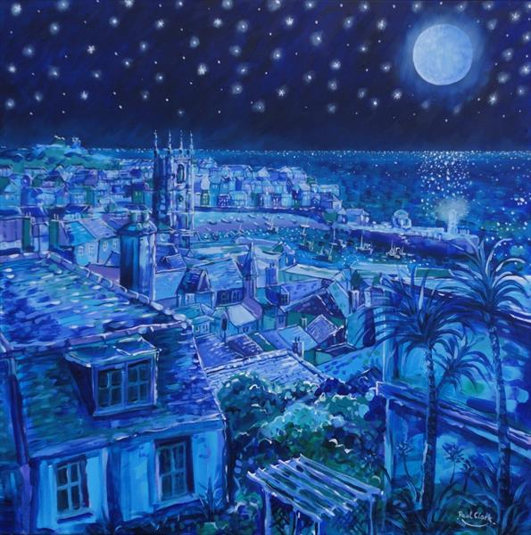 Moonlight Over St. Ives by Paul Clark