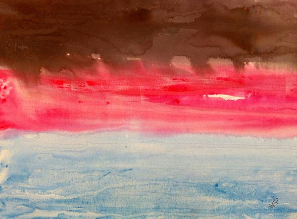 Changing Landscape;  Black Pink Blue by Sue  Mobbs