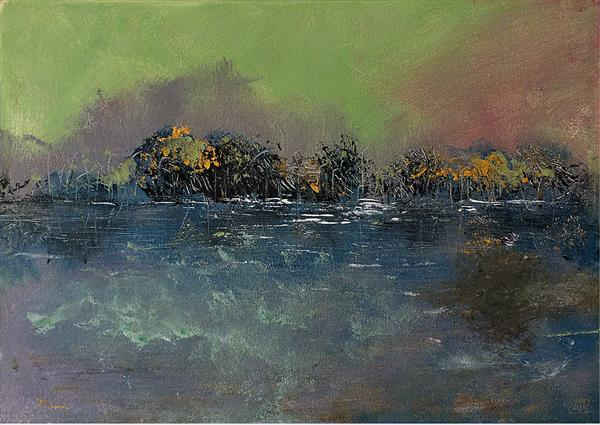 Storm on the River by Tracey Unwin