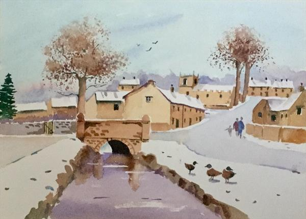 DOWNHAM IN PENDLE, WINTER by Susan Shaw