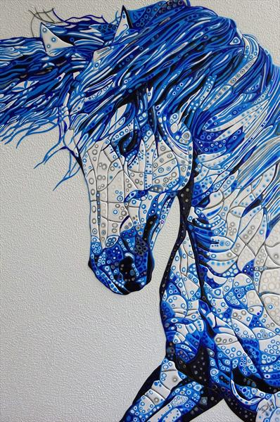 Abstract Horse 15 (Sculptural) by Paula Horsley