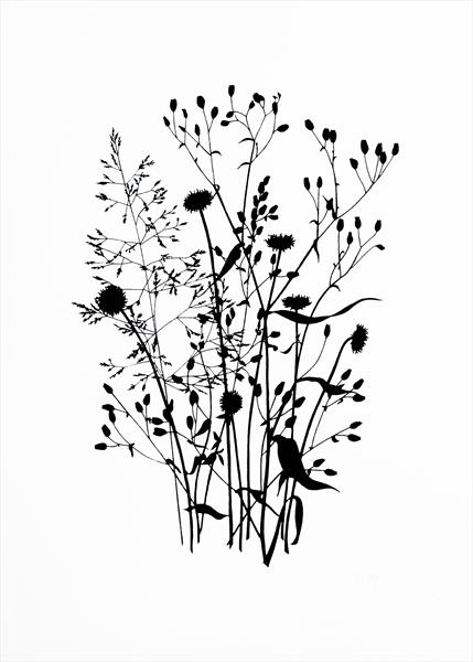 Wild Grass #3 Black edition by Kathryn Edwards