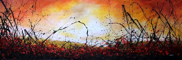 Glory Days - Extra large original landscape painting by Cecilia Frigati