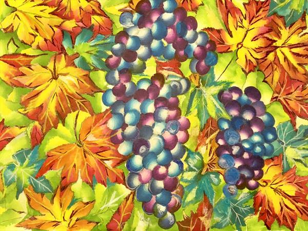 Purple grapes  by Irum Iftikhar