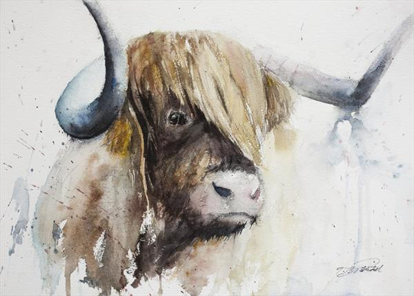 Highland Cow - Bhuidhe Aillidh by Tomasz Mikutel