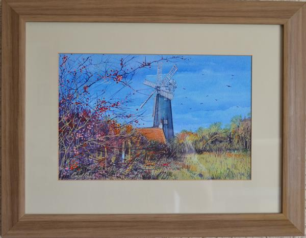 Waltham Windmill Autumn Leaves by Carl Paul