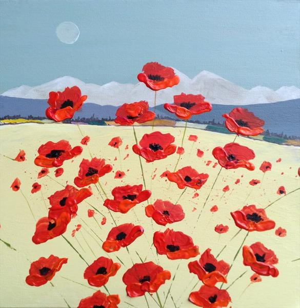 Early Poppies by Gill Masters