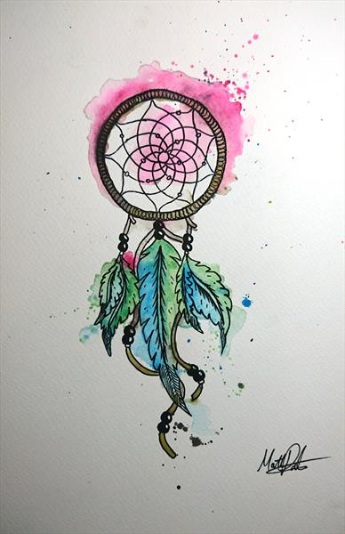 Dream Catcher Watercolour Painting in A4 by Matt Dale