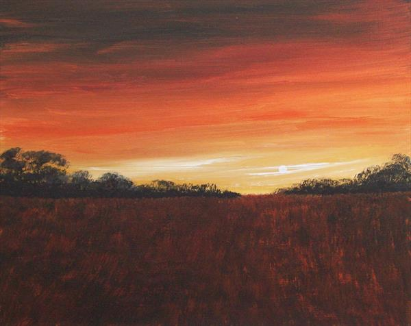 Sunset Fields by Patricia Richards