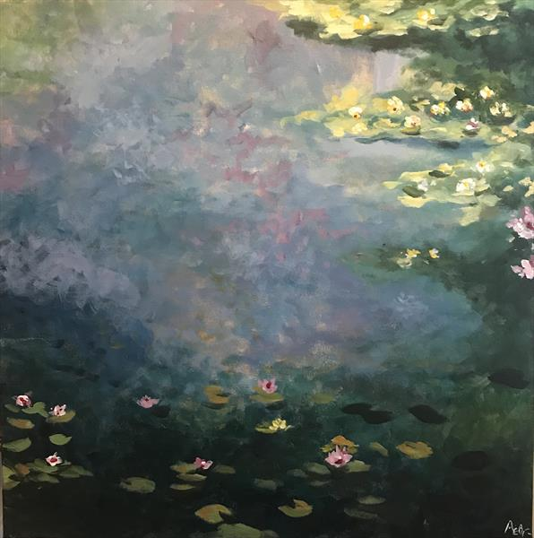 Water Lilies 2 by Abby  Browne