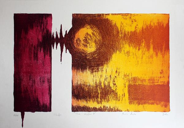 Sound Waves 04 - Limited Edition Lithograph by M K Anisko