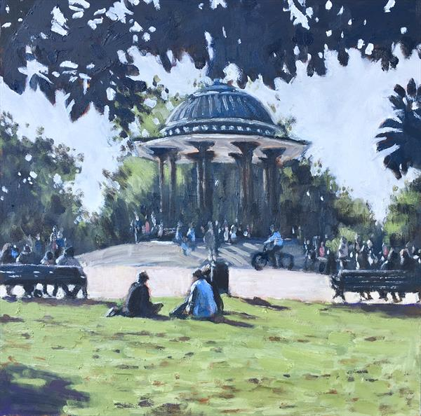 Clapham Common Sunday by Louise Gillard