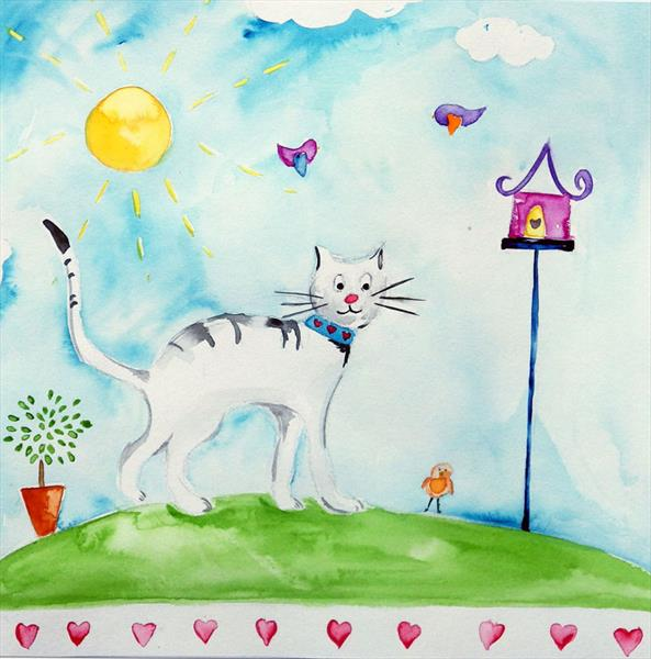 White Cat by Laura Ashiley