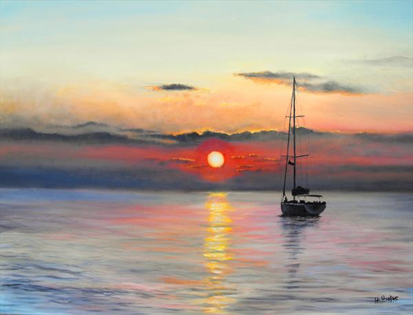 Anchored For the Night by Helen Hooper