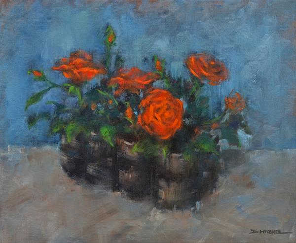 Autumn Roses by Denise Mitchell