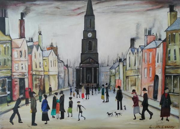 Homage To L.S.Lowry by Liam Byrne