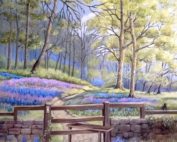 PATH TO BLUEBELL WOOD by Pamela Usher