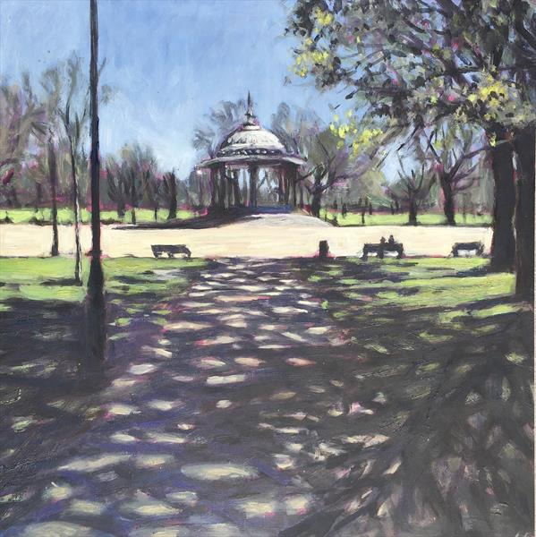Clapham Common shadows by Louise Gillard