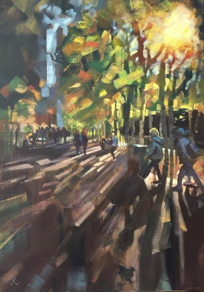Walking to the Tate in the Winter Sun by Susan Clare