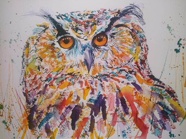 OWL - JUST LOOKING by Gill Michael