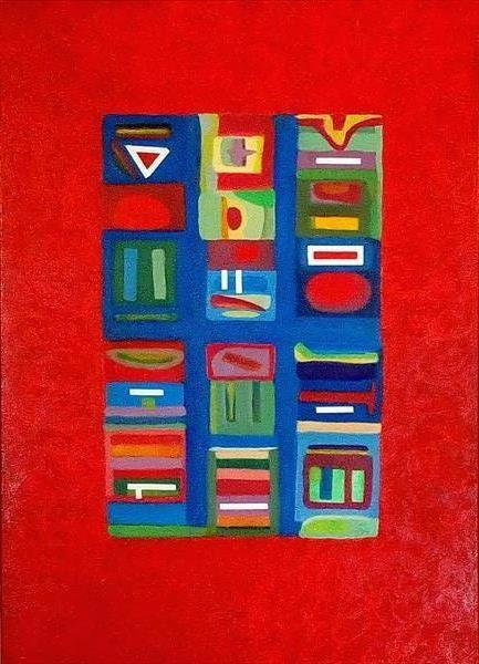 ABSTRACT ON RED by Dermot Daly
