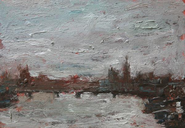 View of London( framed ) by Roberto Ponte