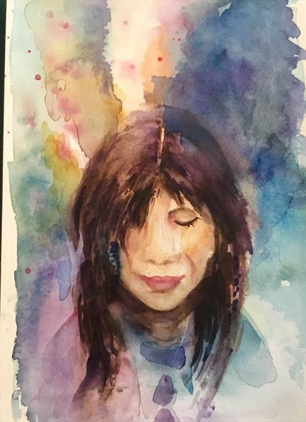 MEDITATION ...WATERCOLOUR by Phyllis Denton