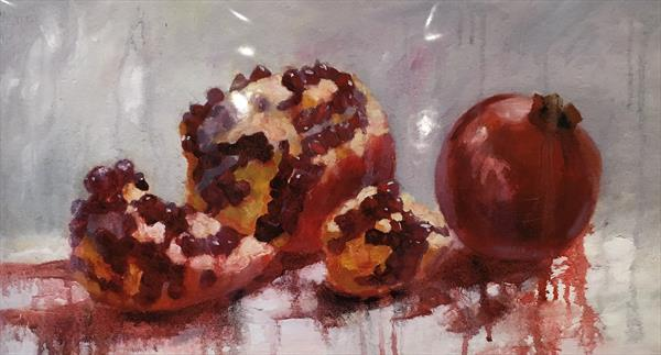 Pomegranate, limited edition Giclée print made from the original painting by Diana Davydova