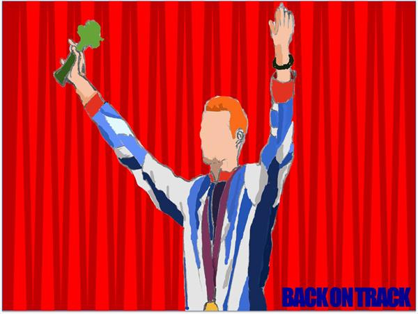 Cartoon Greg Rutherford by Nathan Folefac