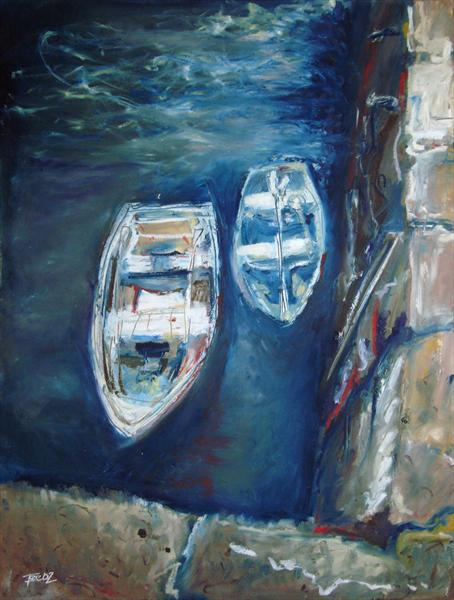 Harbour Boats I by Fee Dickson