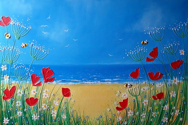 Wildflowers by the Ocean by Angie Livingstone