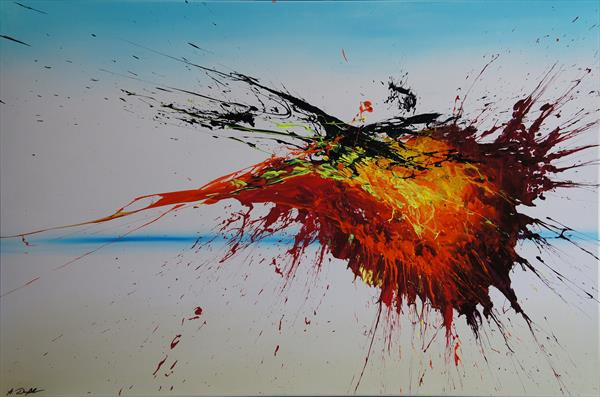 Right Into The Blaze (Spirits Of Skies 096080) (120 x 80 cm) XXL (48 x 32 inches) by Ansgar Dressler