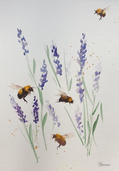 Bees and Lavender by Teresa Tanner