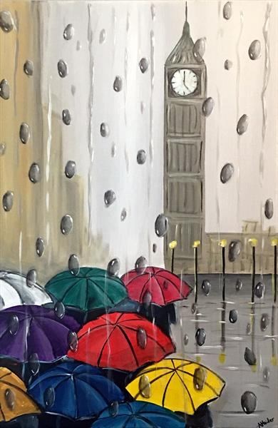 Colourful London Umbrellas by Aisha Haider