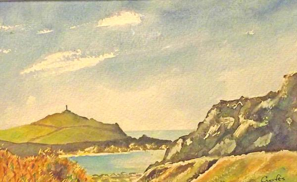 Cape Cornwall (Mounted) by Maureen Crofts