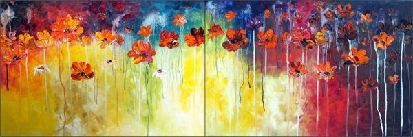Cosmic Dawn (Large Diptych)