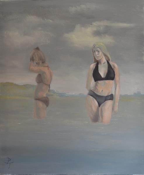 early morning bathers by peter torley