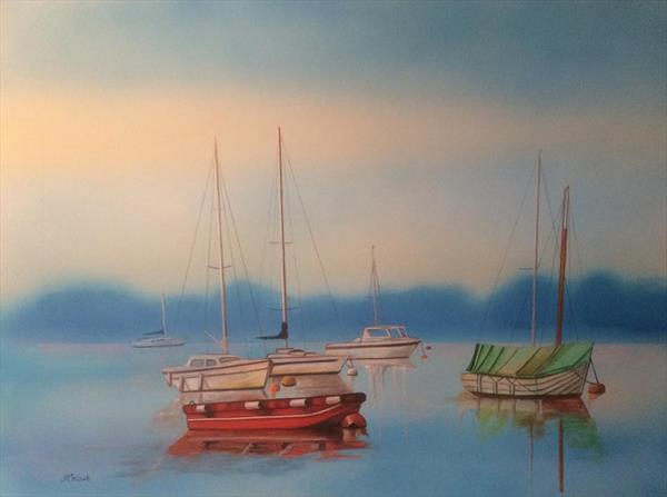 Misty Moorings by Judith Selcuk