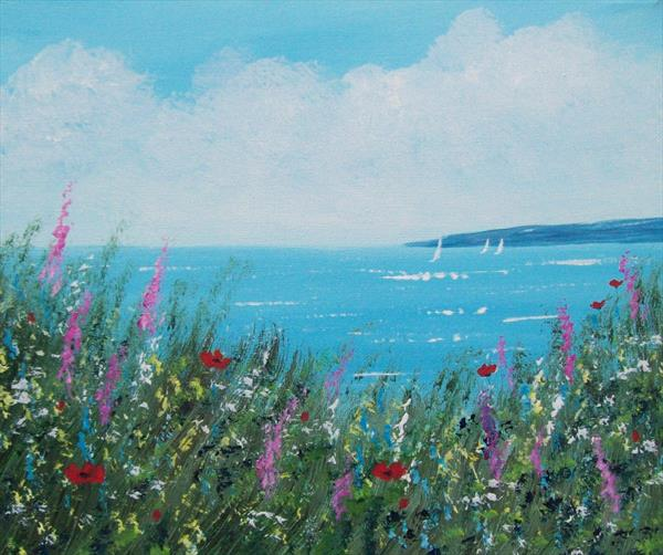 Cliff top Wild Flowers 2# by Patricia Richards