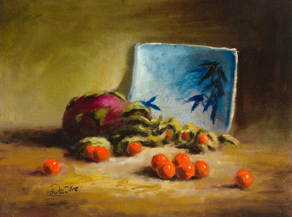 Dragon Fruit and Kumquats by Chris Dewire