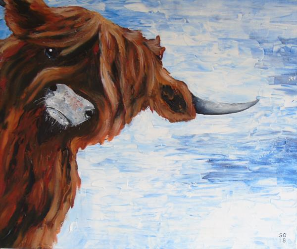 Tulip The Highland Cow  by Super Cosmic