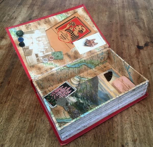 Vintage Edwardian Novel crafted into decorative and original storage box  by Michael Joseph