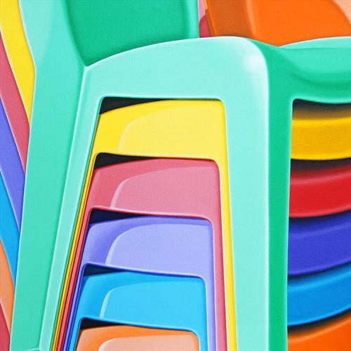 Stacked Plastic Chairs by Nick Hais