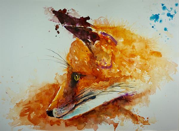 Portrait of fox 15' x 11' by Anna Pawlyszyn